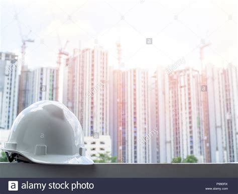white hard safety helmet  civil engineer protect