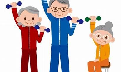 Senior Chair Impact Low Clip Exercise Clipart