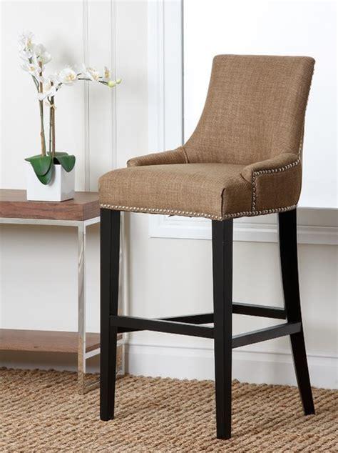 fabric counter stools abbyson living newport gold fabric nailhead trim bar stool 3649