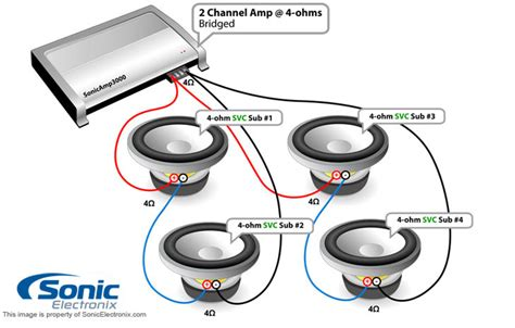subwoofer wiring diagrams sonic electronix