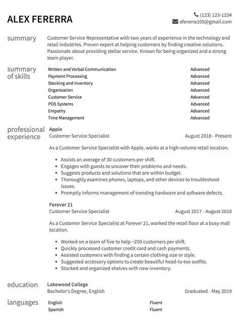 Customer Service Resume by Customer Service Resume Sles How To Guide Resume
