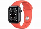 Apple Watch Series 6 GPS 40mm Space Gray Aluminum with Pink Citrus Sport Band A2291 - 40mm in Aluminum