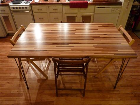 """Multi """"Scrap"""" Wood Butcher Block Dining Table   by"""