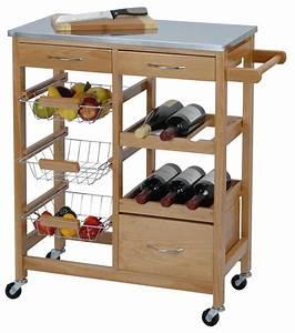 Desserte A Roulette : meuble desserte de cuisine sur roulette avec casier bouteille ~ Teatrodelosmanantiales.com Idées de Décoration