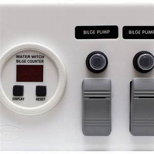 Bilge Pump Panel With Digital Cycle Counter For 2 Pump System  White  U2013 Ac Dc Marine Inc