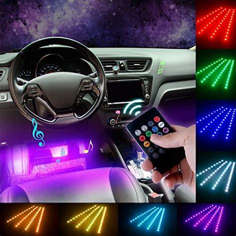 Led Interni Auto - led auto interni 4 pc eecoo al neon interiori