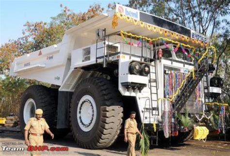 beml launches bhe indias largest dump truck team bhp