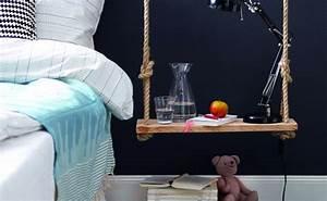 Table De Chevet Suspendue : un autre chevet suspendu diy shake my blog ~ Teatrodelosmanantiales.com Idées de Décoration