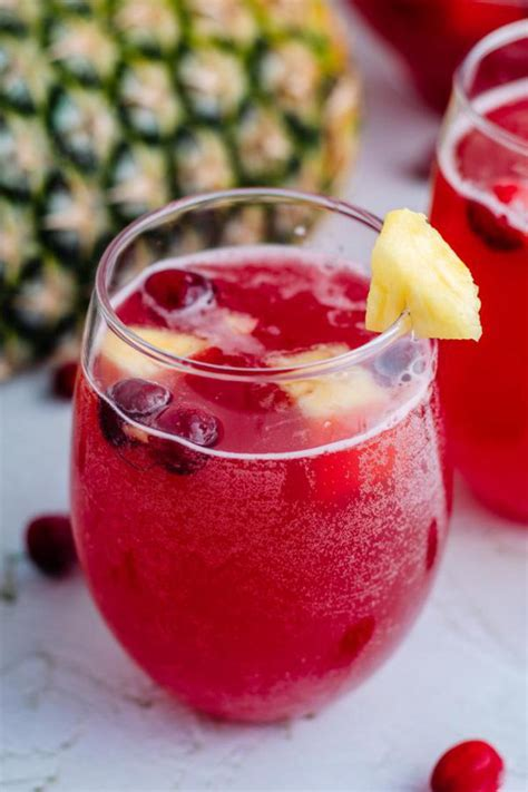 Alcoholic Drinks - BEST Sparkling Cranberry Party Punch ...