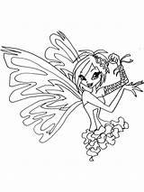 Winx Tecna sketch template