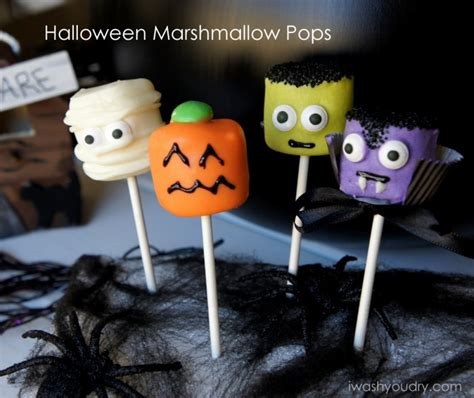 halloween marshmallow pops  wash  dry