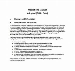operations manual template for small business 28 images With small business operations manual template free