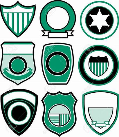 Badge Shield Police Template Blank Emblem Clipart