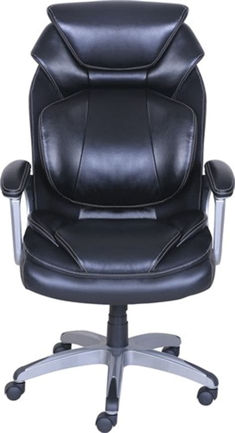 wellness by design air bonded leather chair black 48092