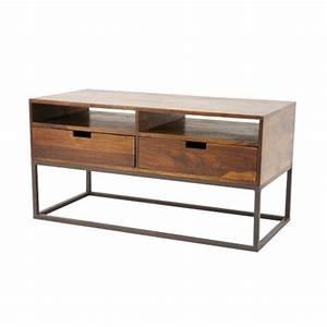 Meuble Tv Fer : meuble tv industriel loft d coration usine pour le salon ~ Teatrodelosmanantiales.com Idées de Décoration