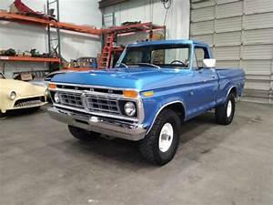 1976 Ford F100 Custom 4x4 Short Bed Pickup New Paint