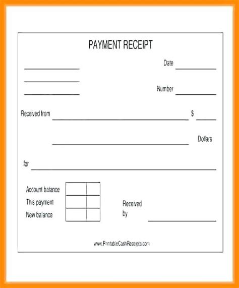 printable payment receipts pics credit card payment