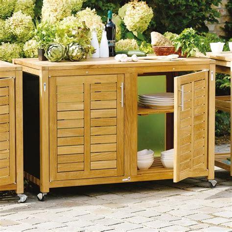 cuisine de jardin en meubles exterieur rangement