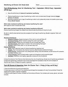 Water Erosion And Deposition Worksheet
