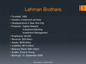 Lehman Brothers - Collapse and Bankruptcy