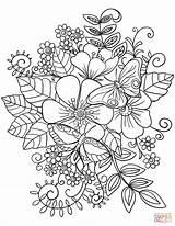Coloring Flowers Wild Flower Printable sketch template