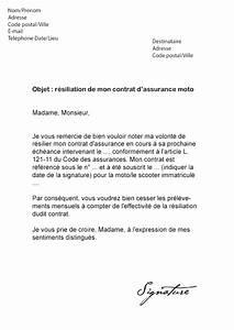 Arreter Une Assurance Voiture : lettre de r siliation assurance moto mod le de lettre ~ Gottalentnigeria.com Avis de Voitures