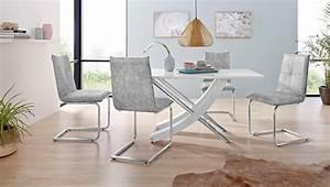 Tisch Mit 4 Stühlen : essgruppe kaleo claire mit 4 st hlen und 1 tisch wei hochglanz online kaufen otto ~ Frokenaadalensverden.com Haus und Dekorationen