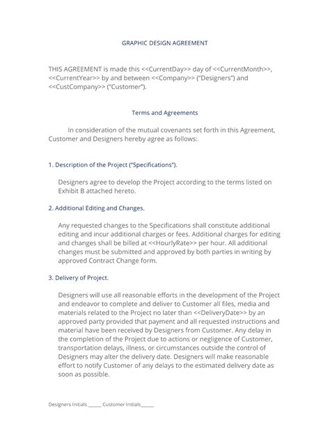 graphic design contract template graphic design contract