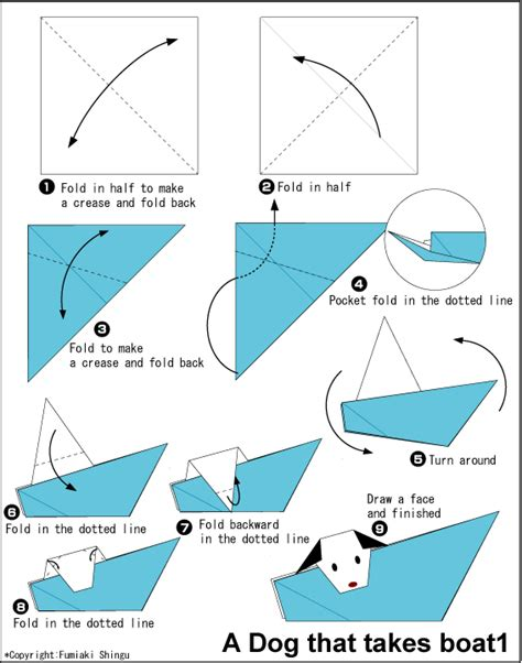 Origami Boat Very Easy by Dog That Takes Boat Easy Origami Instructions For Kids