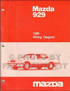 1989 Mazda 929 Repair Shop Manual Original