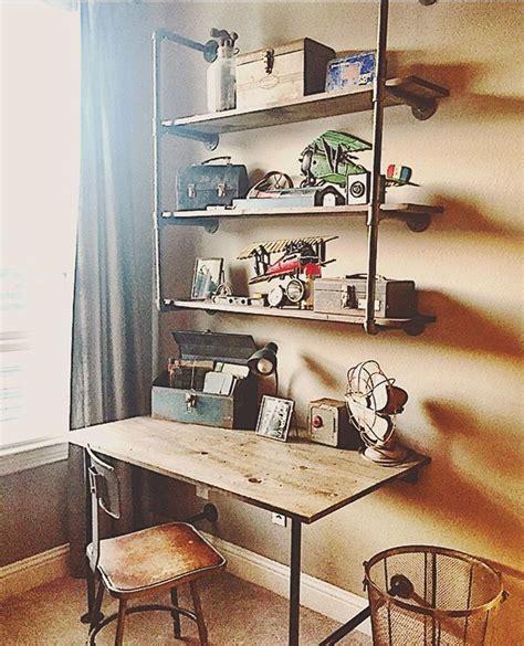 full picture   desk  shelves carpenterhusband