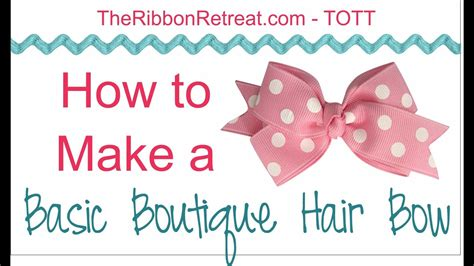 basic boutique hair bow tott instructions