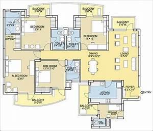 City, 4, Bedroom, Condo, Floor, Plans