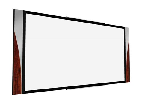 ecran de projection sur cadre trancheuse professionnelle