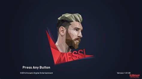 PES 2017 Lionel Messi Polyart StartScreen by Leo05 - PES Patch