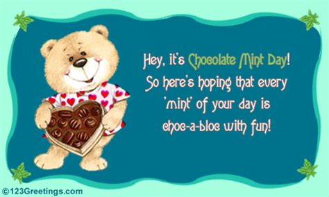 choc bloc fun chocolate mint day ecards greeting cards