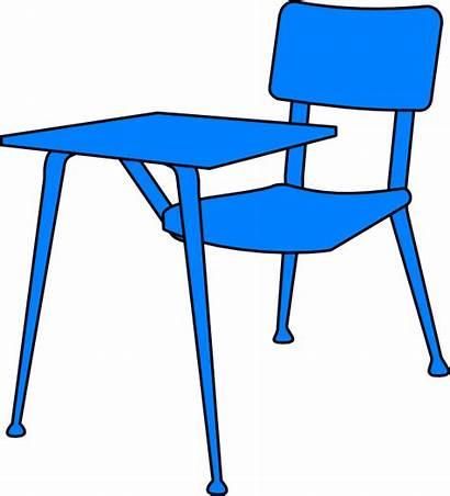 Desk Clip Clipart Desks Table Cliparts Classroom
