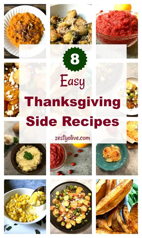 easy thanksgiving sides 8 easy thanksgiving side recipes zesty olive simple tasty and healthy recipes