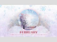 Winter February Calendar Wallpapers 1600x900 354134