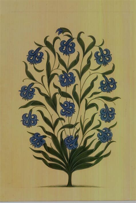 mugal flower  blue ff   pinterest mughal