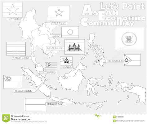 asean economic community aec map asean economic community aec map stock vector asea