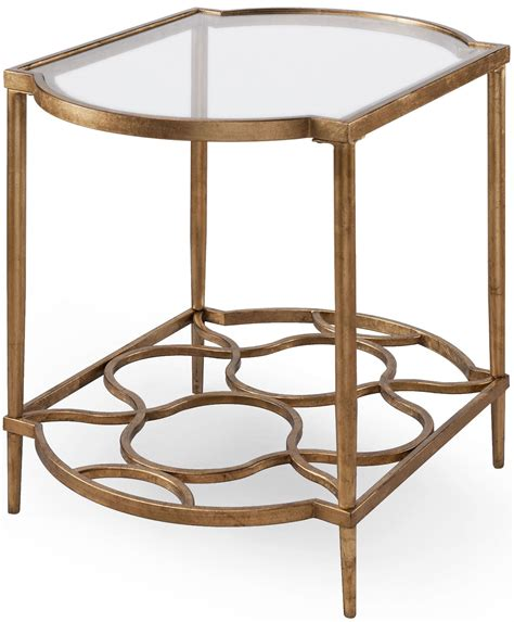 gold end table bancroft gold leaf rectangular end table mag t4038 03 4876