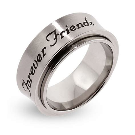Friendship Rings For 3 Forever Friends Engraved Spinner Ring Eve S Addiction 174