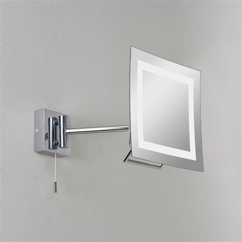 astro niro polished chrome bathroom mirror light  uk