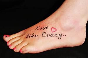 Words Foot Tattoo Designs for Women - Tattoo Designs ...