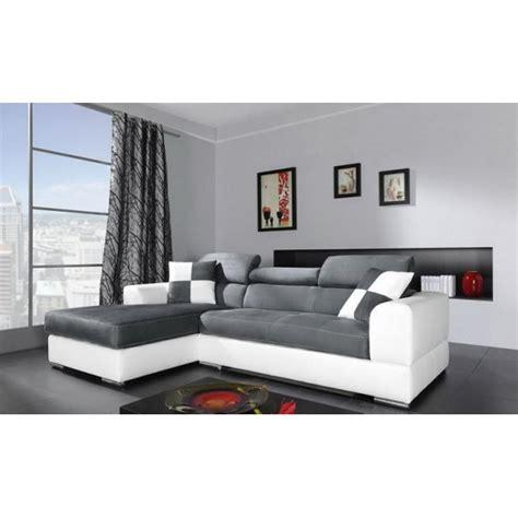 canape lit convertible une place canapé d 39 angle 4 places néto madrid gris et blanc pas cher