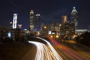 View of Atlanta Skyline at Night