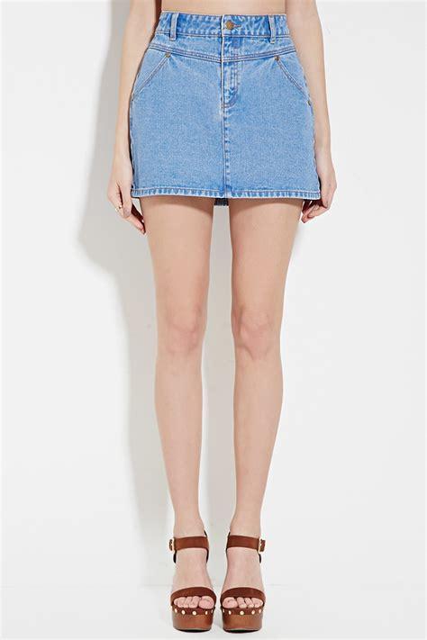light blue jean skirt light denim mini skirt fashion skirts