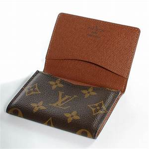Louis vuitton monogram business card holder 39674 for Business card holder louis vuitton
