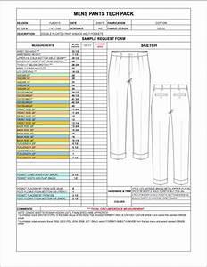 Mens Spec Sheet Sample